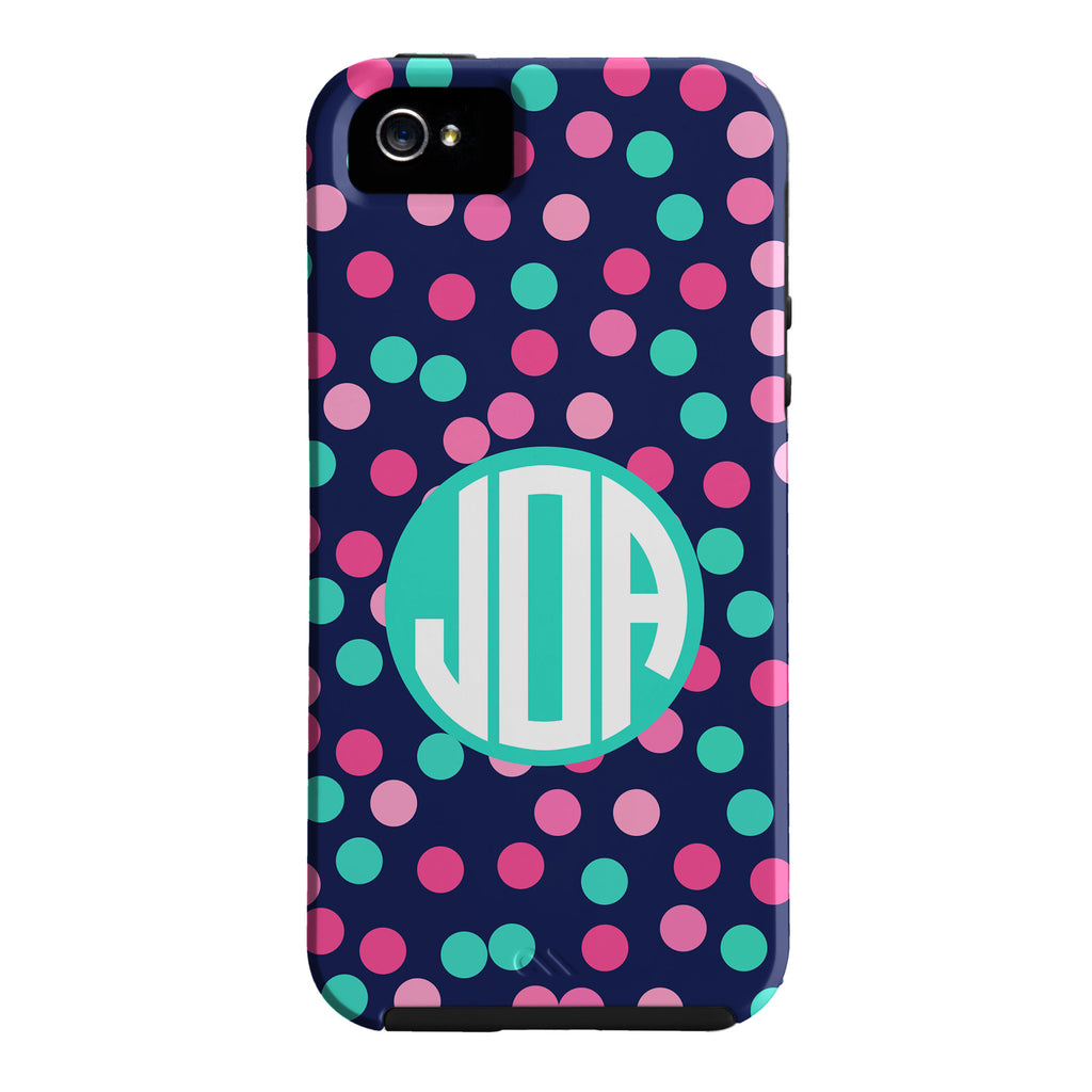 Monogram Confetti Dots Phone Case - iPhone or Samsung