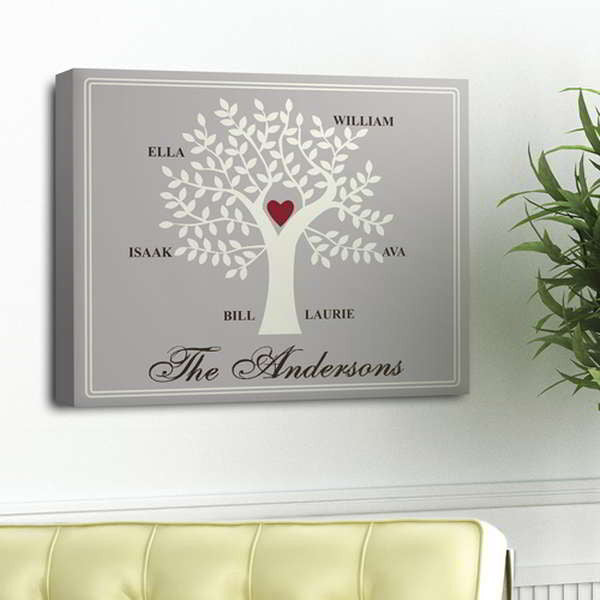 Contemporary Family Tree Personalized Wall Art