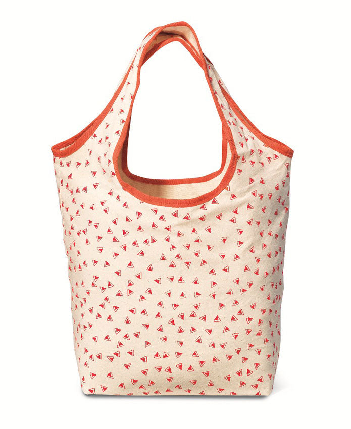 Reversible Monogram Tote Bag - 2 Colors / coral 2