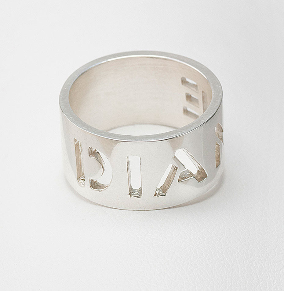 Sterling Silver Cut Out Ring