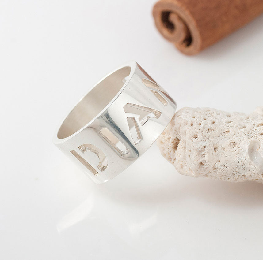 Sterling Silver Cut Out Ring 2