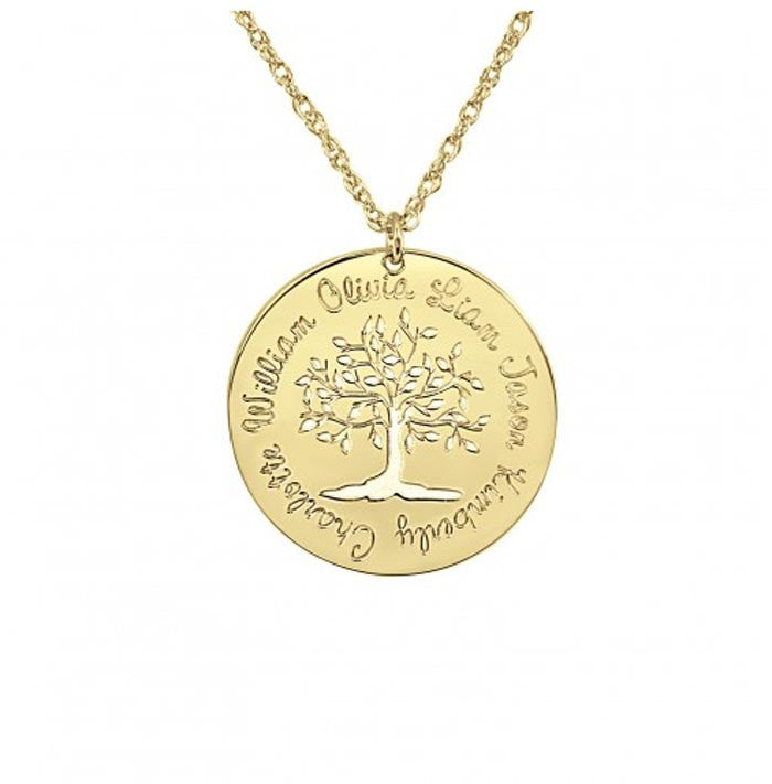 Cutout Family Tree Mothers Necklace