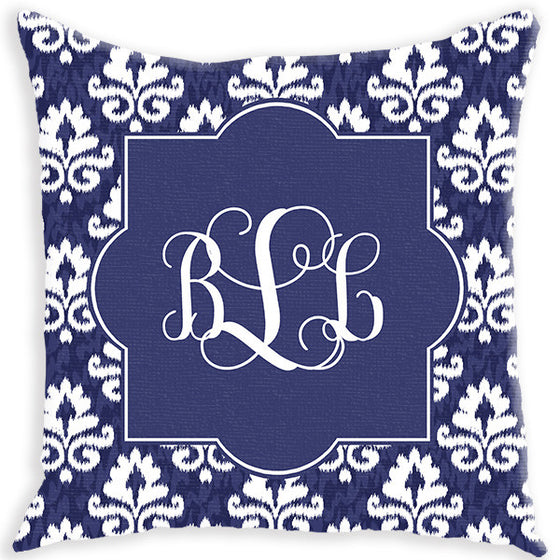Monogram Pillow - Damask iKat