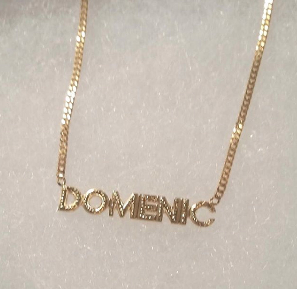 Diamond Cut Block Name Necklace - Kylie Jenner - Khloe Kardashian 6