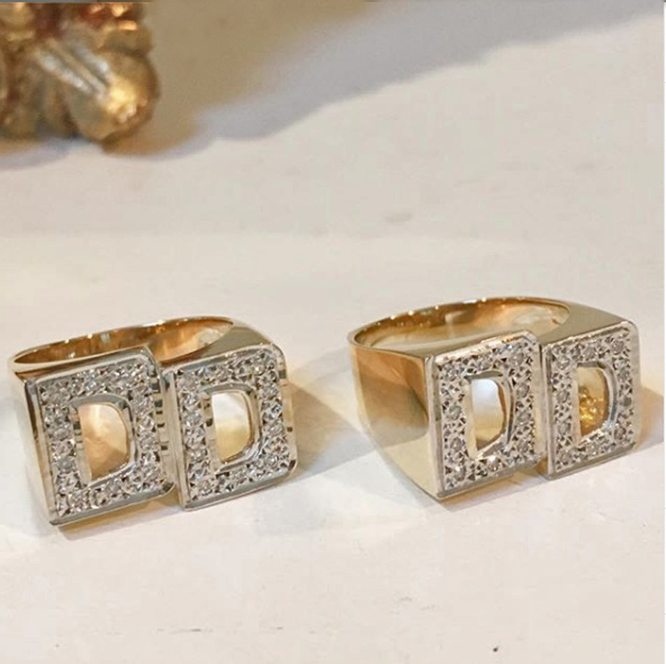 Large Block Diamond Initial Ring 2