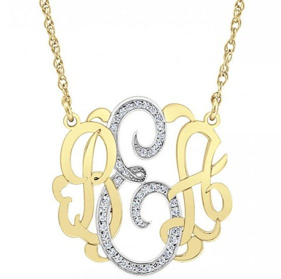 Diamond Classic Monogram Necklace