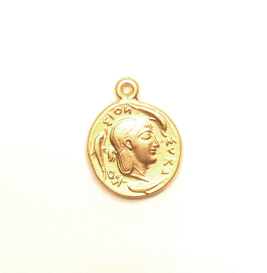 Gold Coin Medallion Necklace - Kim Kardashian 4