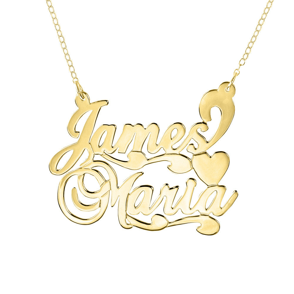 double nameplate necklace