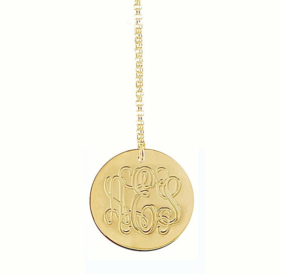 Engraved Initials Necklace