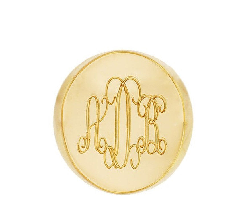 Monogram 14K Gold Signet Ring