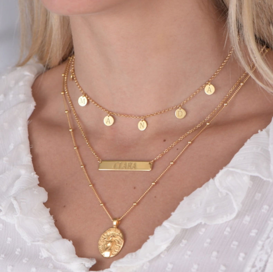 Engraved Initials Name Choker Necklace 4