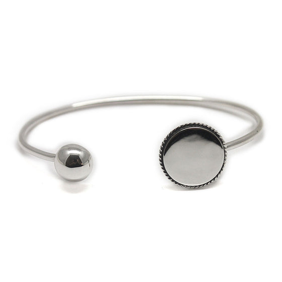 Monogram Sterling Silver Bangle Ball Bracelet