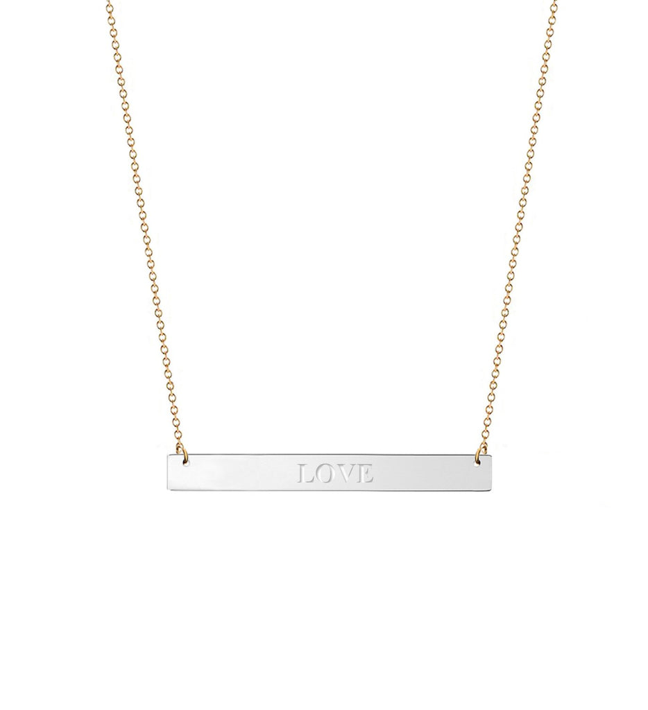Personalized Engraved Bar Necklace 2