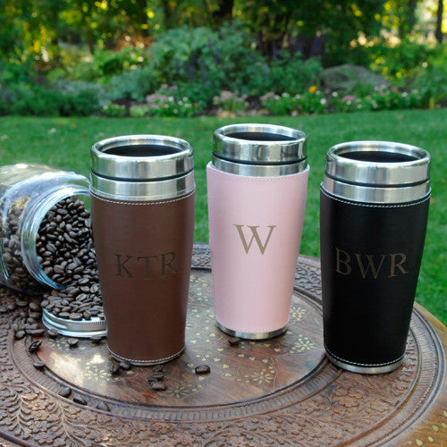 Personalized Pink Travel Mug Alternate 1