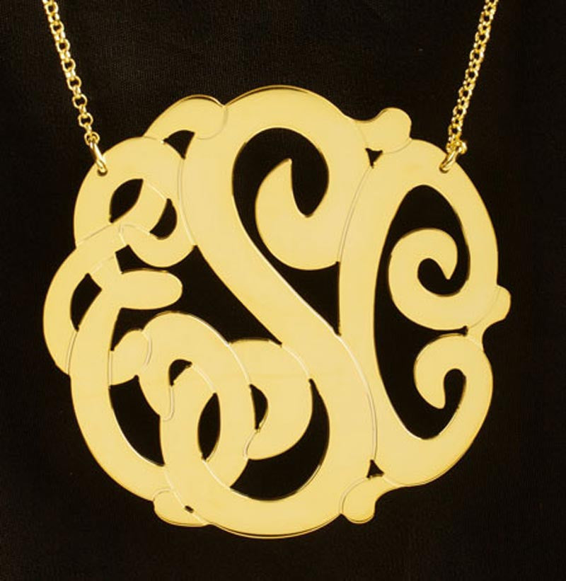 Gold Vermeil Monogram Necklace - Extra Large