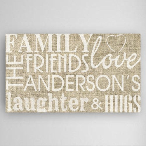 Family and Friends Monogram Wall Art