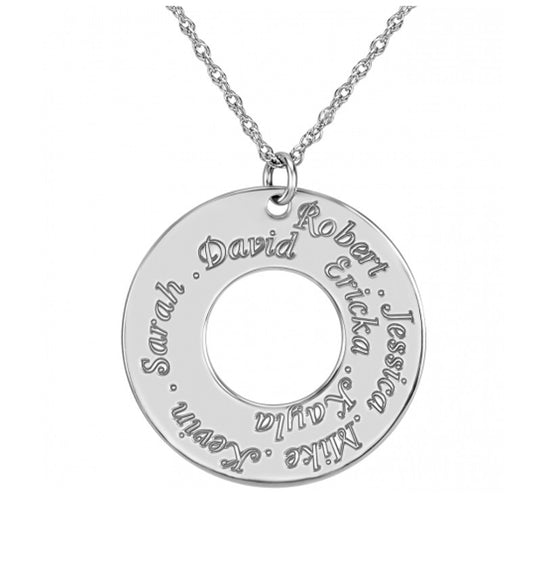 Family Circle Names Necklace