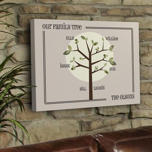 Family Tree Monogram Wall Art