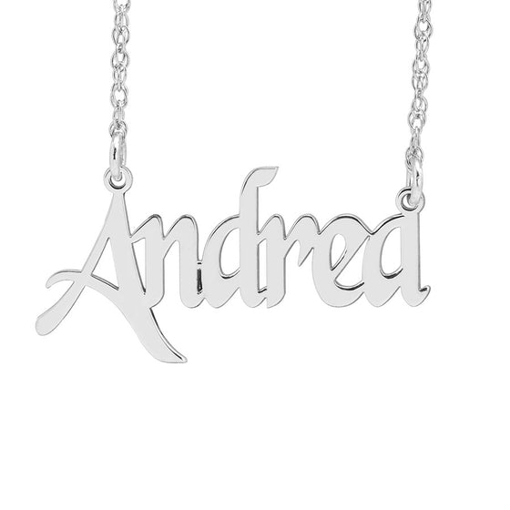 Custom Nameplate Necklace - Fancy Script