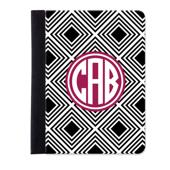 Monogram Folio iPad Case - Geometric