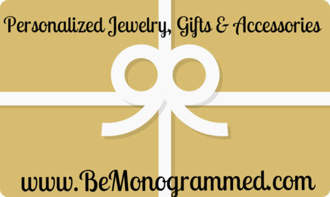 Be Monogrammed Gift Card