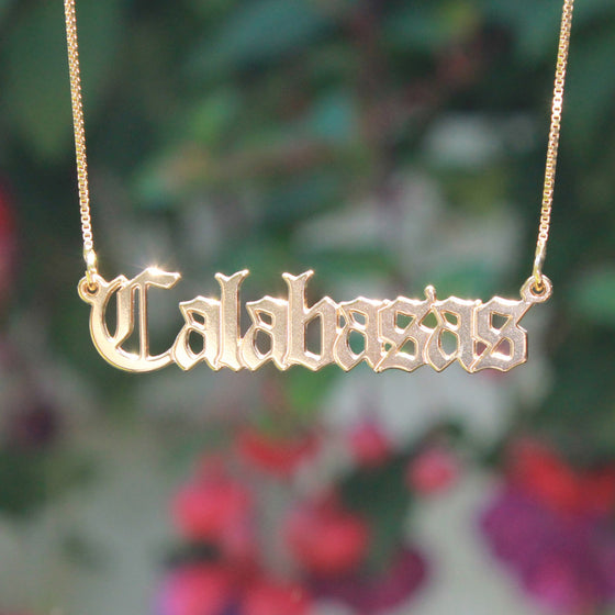 Calabasas necklace