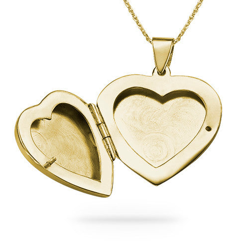 Personalized Gold Plated Heart Locket Necklace 2