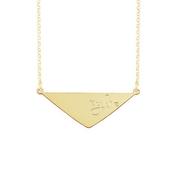 Engraved Triangle Necklace