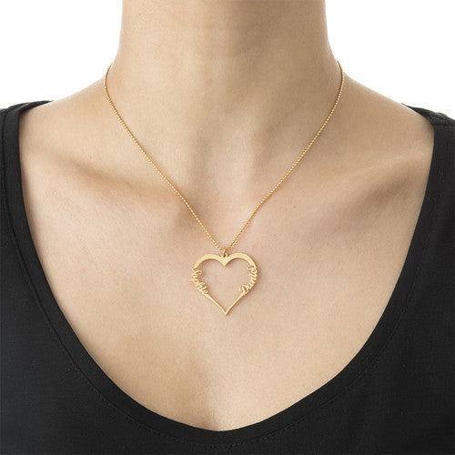 Two Name Heart Necklace 2