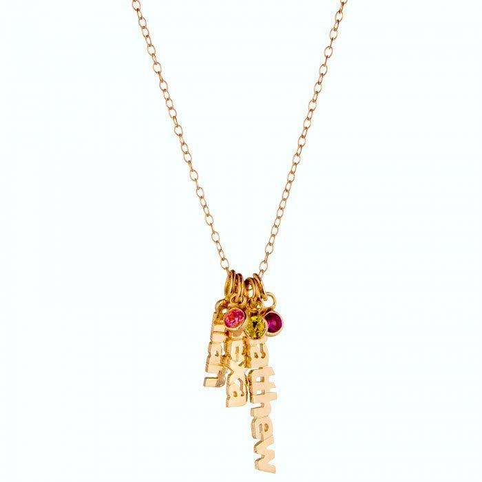 Gold Vertical Birthstone Necklace - Kourtney Kardashian