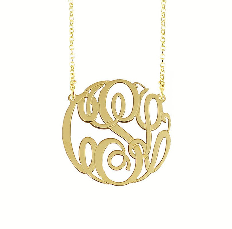 Gold Monogram Necklace - 21