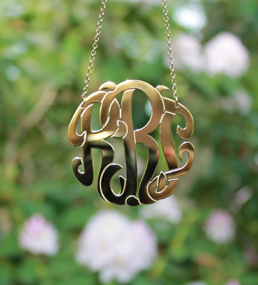 Gold Vermeil Monogram Necklace 6