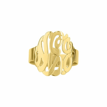 Cutout Monogram Ring 3