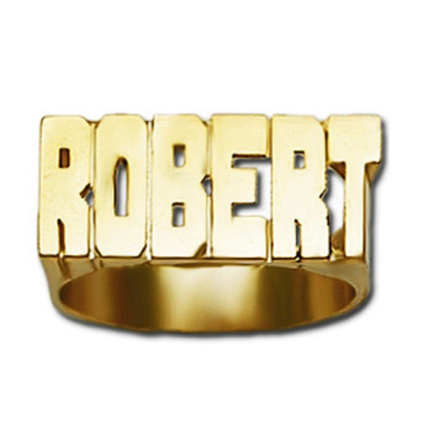 Large Gold Name Ring