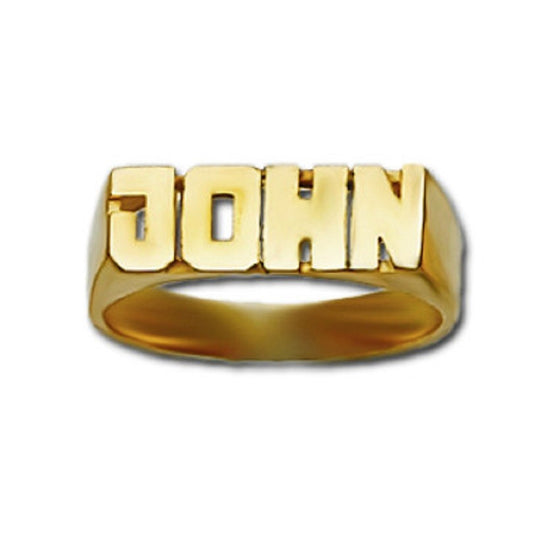 mini block name ring