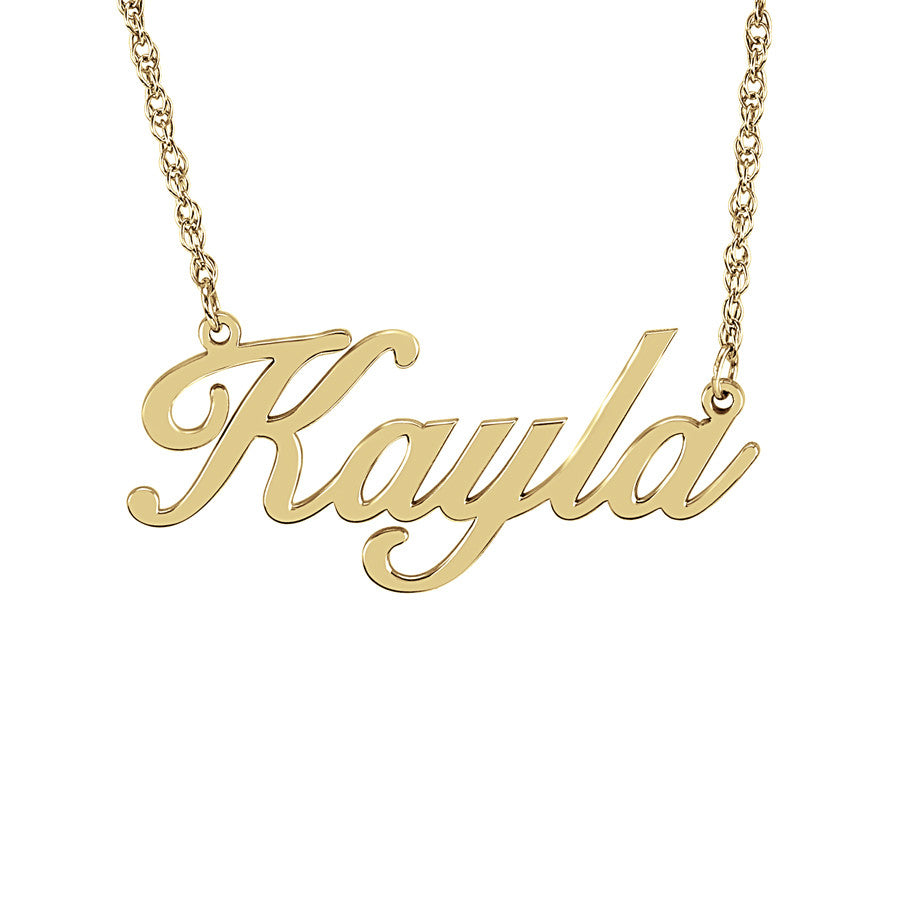Elegant Nameplate Necklace Gold