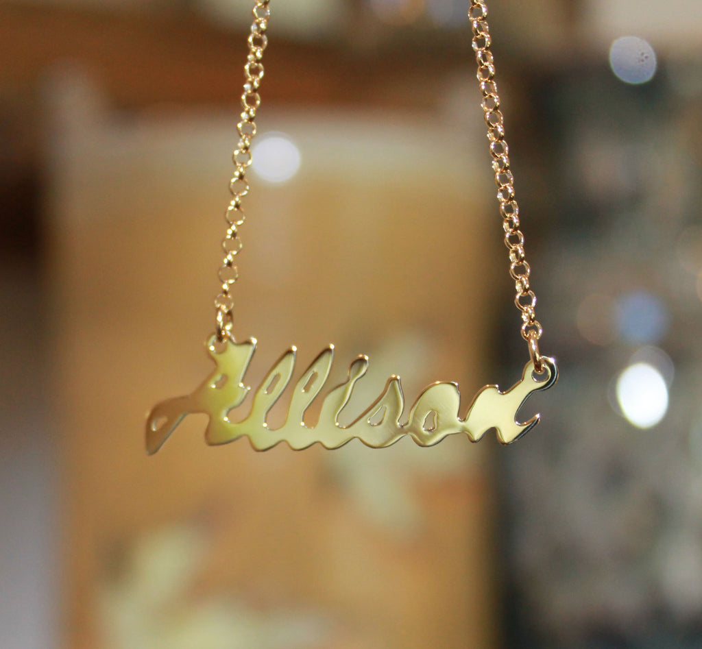Tiered Double Nameplate Necklace