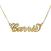 Smaller 18K Gold Vermeil Nameplate Necklace - Box Chain