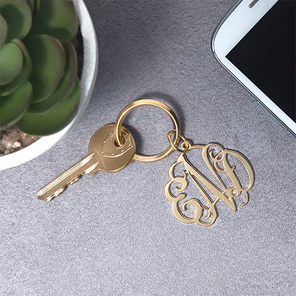 Monogram Keychain - Silver or Gold 2