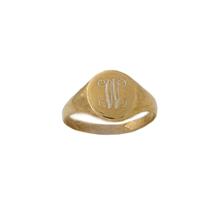 Small Gold Filled Signet Ring - as seen on Taylor Swift 3