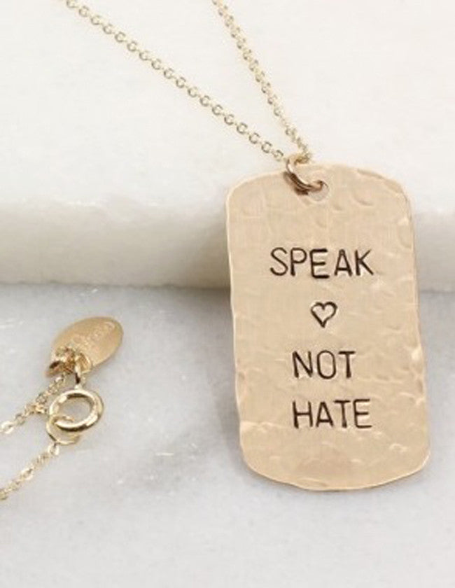 Hand Stamped Identity Dog Tag Necklace 3