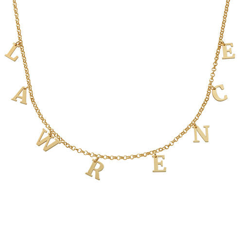 Hanging Initials Name Choker Necklace 2