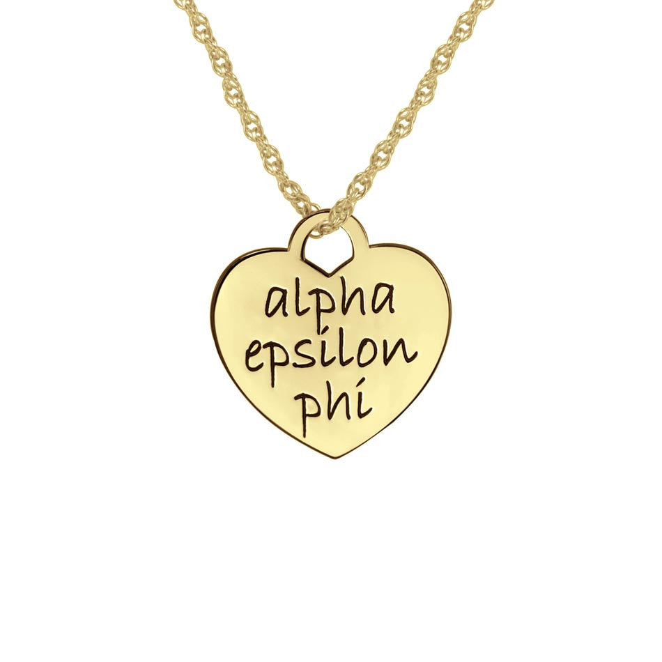 Greek Sorority Heart Necklace