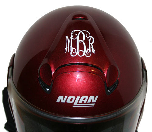 Motorcycle Helmet Monogram Decal Choose Font And Color
