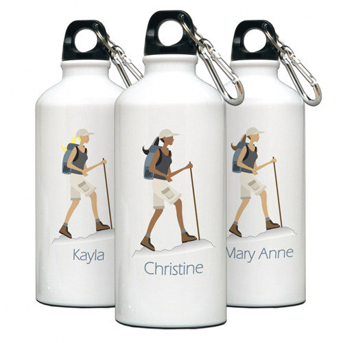 Personalized Water Bottle Hiker Gal