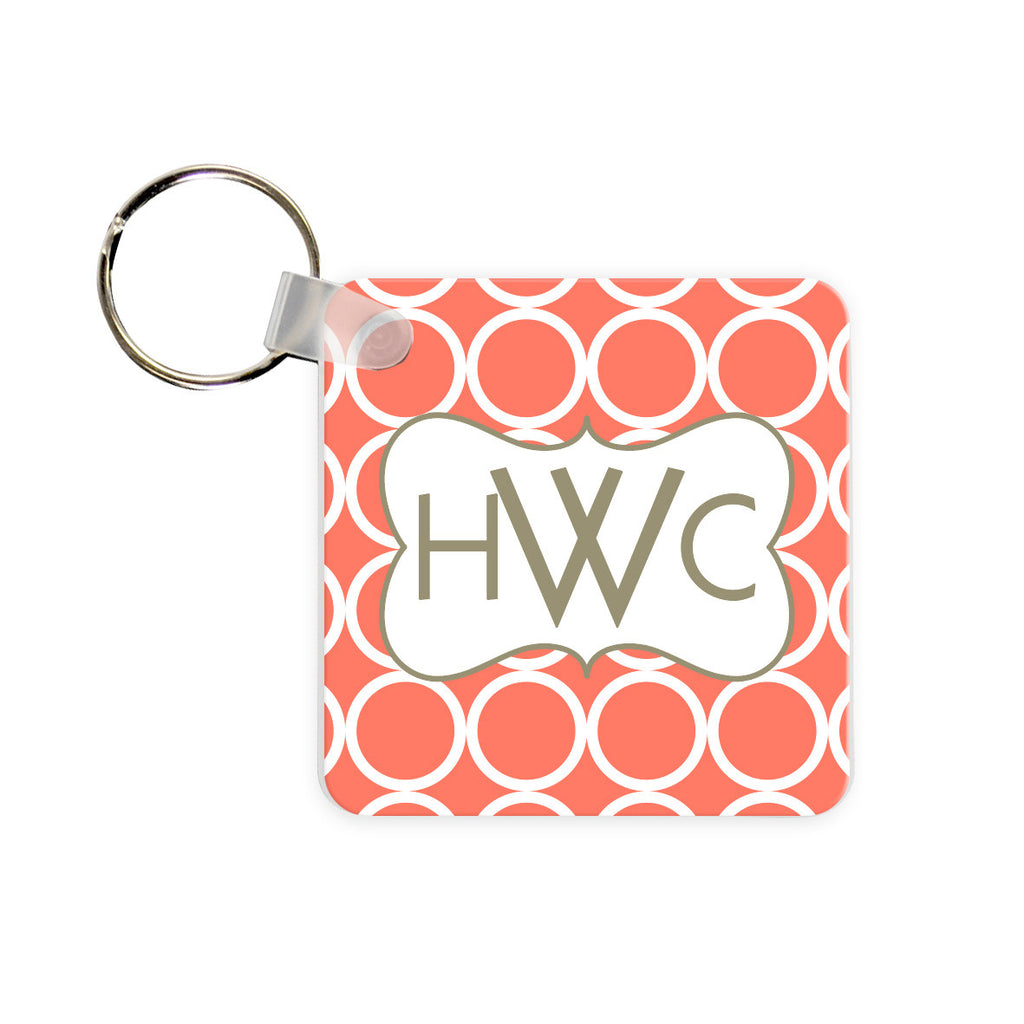 Personalized Bloom Monogram Key Chain