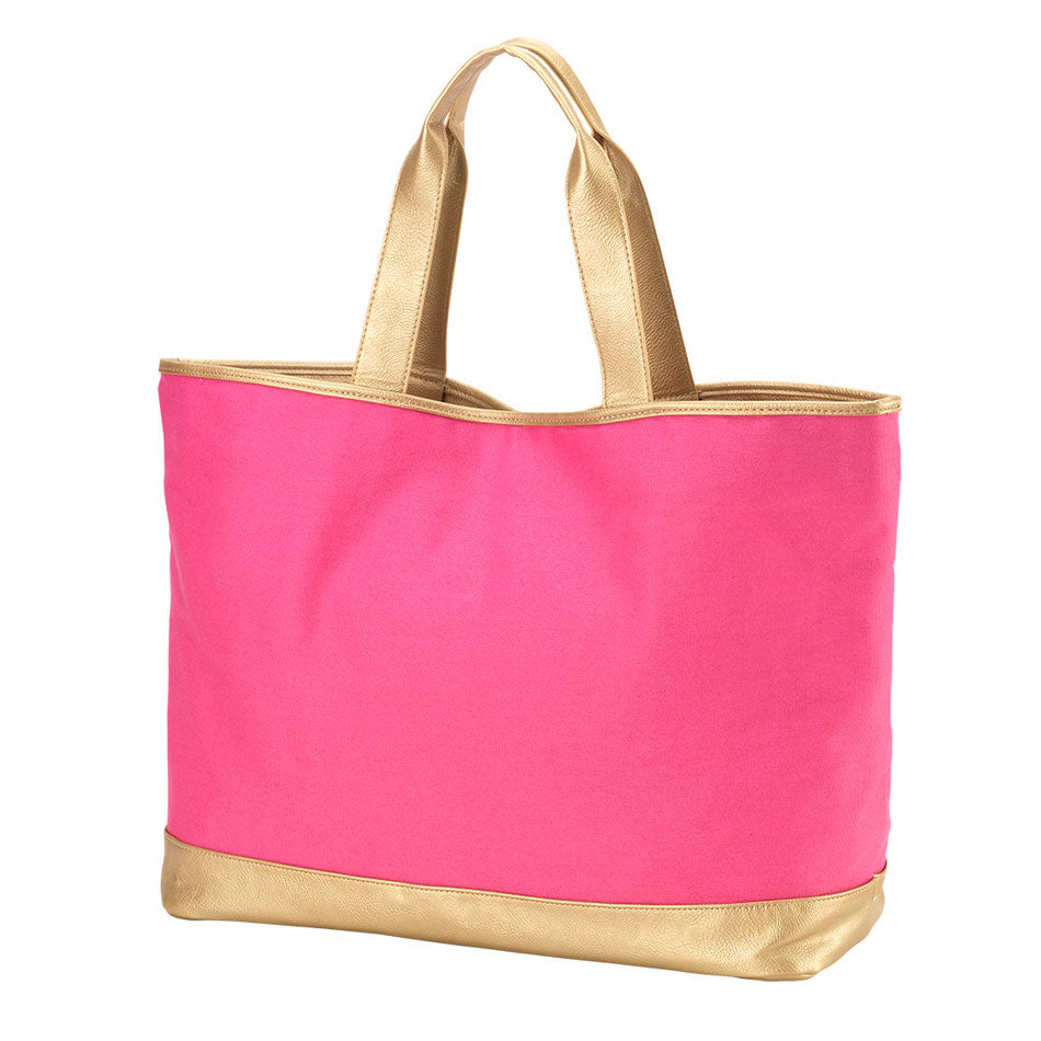 Monogram Tote Bag - Hot Pink