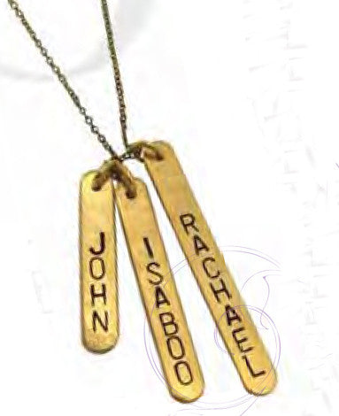 Personalized Gold Filled Oxidized Lucky Bars Necklace Rachael Ray