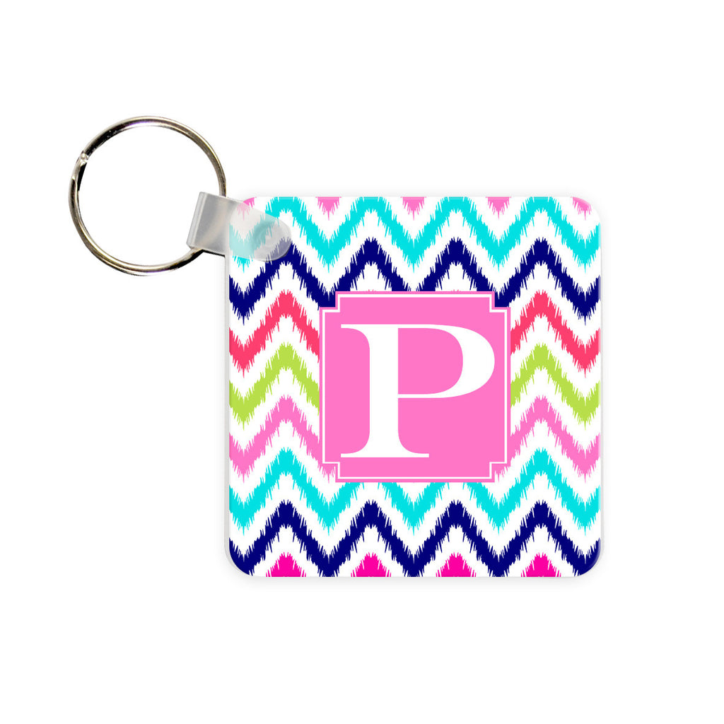 Monogram Key Chain - iKat Chevron