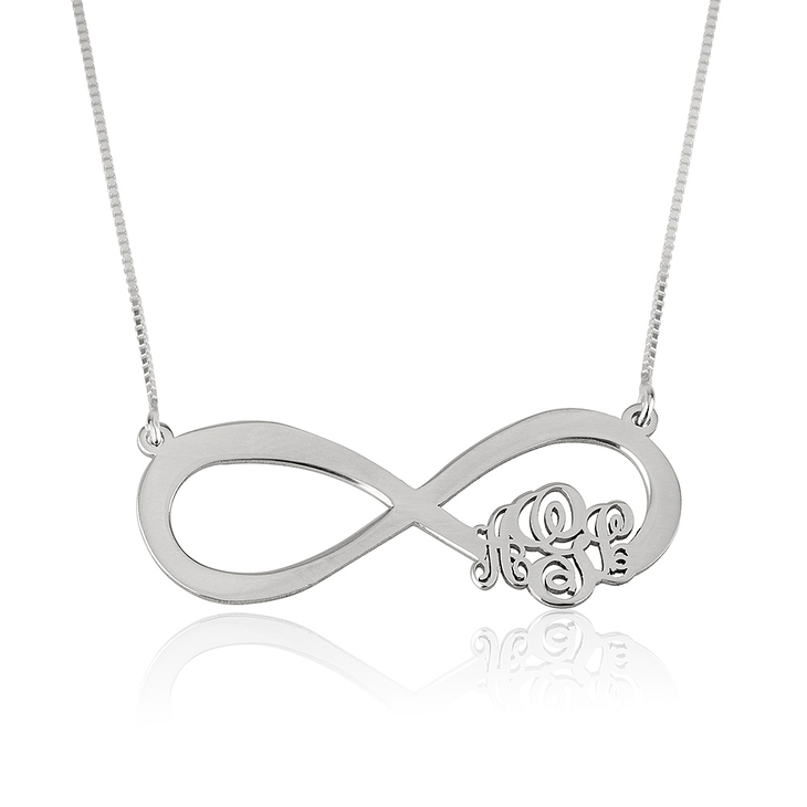 Infinity Monogram Necklace 2